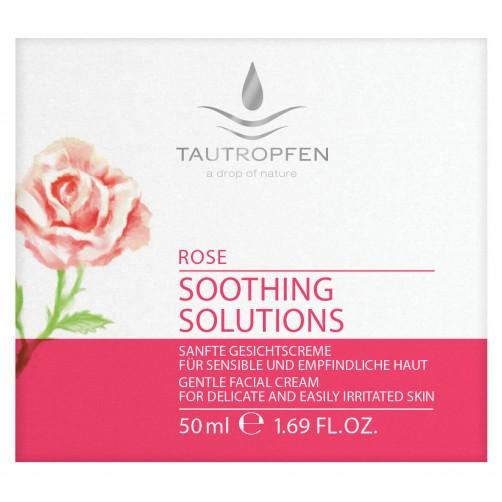 Rose, Sanfte Gesichtscreme für sensible und empfindliche Haut, harmonisiert
