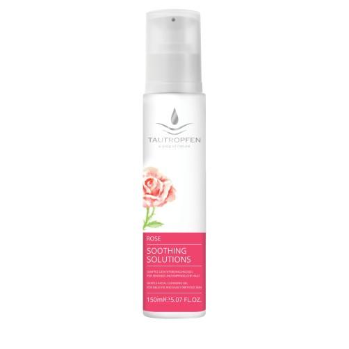 Rose, Sanftes Gesichtsreinigungsgel für sensible und empfindliche Haut, harmonisiert